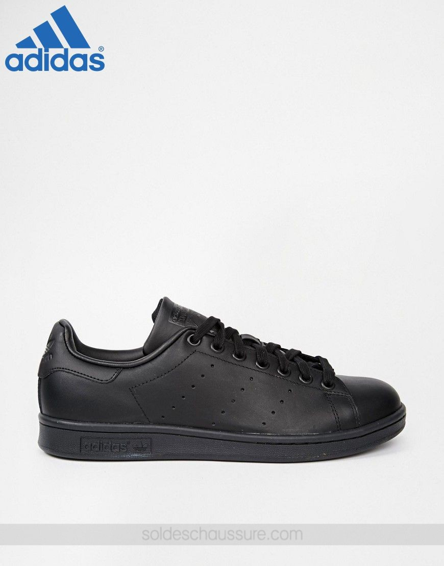 ... [Adidas Vente Privée] ✓ Adidas Originals Stan Smith en cuir Noir - [ Adidas ...